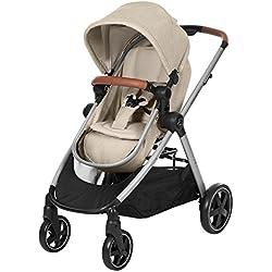 Bébé Confort Zelia - Cochecito urbano 2 en 1, diseño compacto, sistema plegable, para bebes de 0 meses hasta 3,5 años, color beige