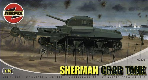 Airfix A02320 Sherman 'Crab' Tank 1:76 Scale Series 2 Plastic Model Kit by Airfix World War II Military Vehicles & Dioramas