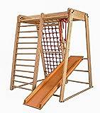 Espalier suédois, Centre d'activités pour enfants 'Malcek-3' Cage à grimper, Echelle de corde, Toboggan