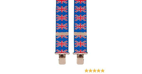 British Union Jack Flag English Novelty Trouser Braces Mens Suspenders