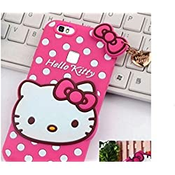 Trifty Luxury Back Case Cover Hello Kitty For Vivo V7 - Pink