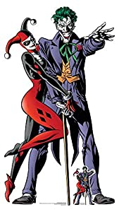 Star Cutouts SC1370 Harley Quinn and The Joker Classic - Recorte de cartón doble para parejas, 167 cm de alto, 94 cm de ancho, multicolor