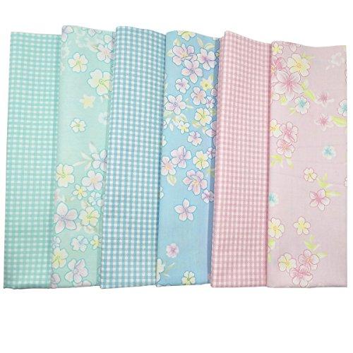 6 pz tessuti stampato cotone tessuti e stoffe a metro cotone tessuti stoffe per patchwork scampoli stoffa fatansia per cucito creativo (50cmx50cm)