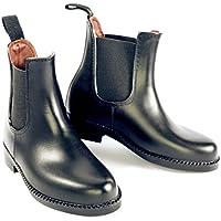 Stivali da equitazione, impermeabili, traspiranti, interamente foderato, da adulto, unisex, tutte le taglie, donna Uomo, Black, 3-3.5 UK / 36 EU