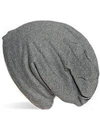 Kandharis klassische Feinstrick Beanie warme Mütze sehr weichem Fleece Innenfutter Unifarben Unisex MT-17