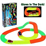Auto Tracks Bright Speedy Automobili con 220 PCS Luminescent Rails Pista flessibile