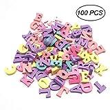 Ultnice Holzbuchstaben, buntes Holz-Alphabet, Wandbuchstaben für Zuhause und als Party-Dekoration, 100 Stück