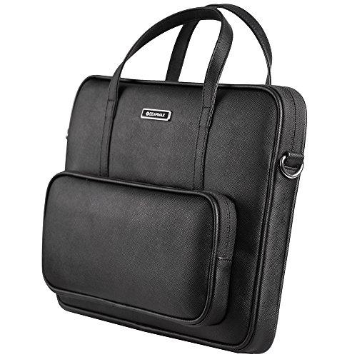 13,3pollici MacBook Notebook e Tablet, Custodia portatile impermeabile tracolla della borsa multifunzione Portable duenner Heller Laptop Borsa a tracolla Valigetta ventiquattrore taccuino COMPUTER Me nero