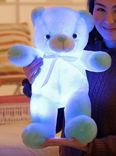 EZ-Life-Illuminating-7-Color-LED-Light-Teddy-Pillow-Plush-Soft-Toy-Blue