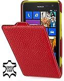 StilGut exklusive Ledertasche Ultraslim für Nokia Lumia 625, Rot