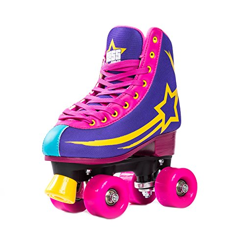 Bliss Rollerskates Mädchen Rollschuhe Damen - Indoor Outdoor Roller Skates Größe 33-40 Rollschuh Rockstar Edition(36)