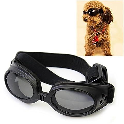 Lanlan Fashion Pet Dog Cat Goggle UV Sonnenbrille Eye tragen Schutz Geschenk–Schwarz