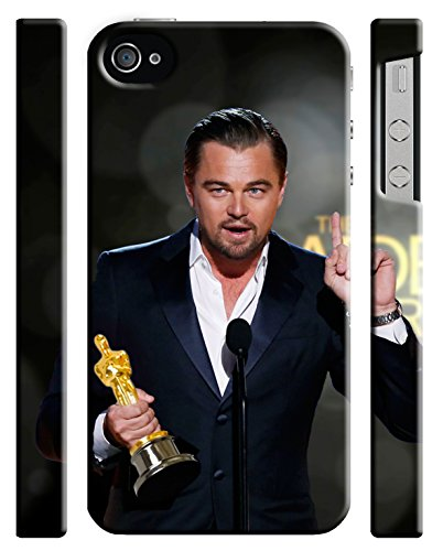 Leonardo DiCaprio Best Actor 2015 for Iphone 4 4s Hard Case Cover (leo1)