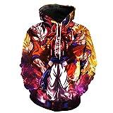Jandz] Dragon Ball Sweats à Capuche Unisexe: Portrait, Impression 3D, Dessins de Otaku, Cosplay, Manga, Dessin animé (Asian (M) → EU (XS), Design-876)