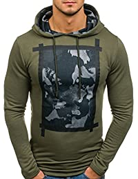 BOLF Men's Printed Hoodie Streetwear Camo [1A1]