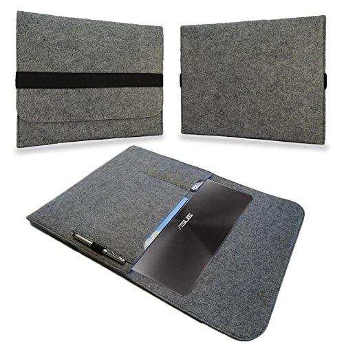 Sleeve Hülle für Odys Vario Pro 12 Tasche Filz Notebook Cover Case Grau, Farbe:Hell Grau
