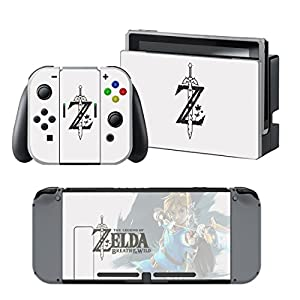 Nintendo Switch + Controller Aufkleber Schutzfolien Set – Zelda /Switch