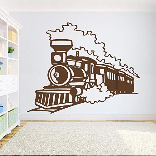caowenhao Zug wandtattoos Raum lokomotive Vinyl Aufkleber Kindergarten Schlafzimmer dekorative Kunst wandbilder Dekoration wandaufkleber braun 100X80 cm -