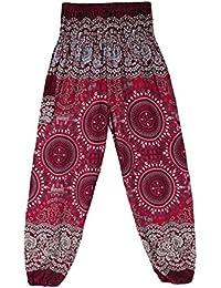 Hombres y mujeres Pantalones de linterna tailandesa Pantalones de yoga Brújula india Pantalones de cintura sueltos