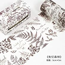 6d7091a74e50a JDGS 6 Unidades Winter Forest Washi Tape 9 Cm De Ancho DIY Máscara  Decorativa Adhesiva Adhesiva