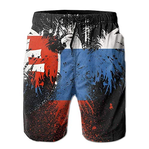 Jocper Slowakei Grunge Flag Boardshorts Strand Shorts Hosen Badehose Männer Badeanzug L
