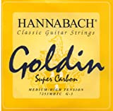 Hannabach Cordes Guitare classique Série 725 Medium/High tension Goldin Sol3 corde unique