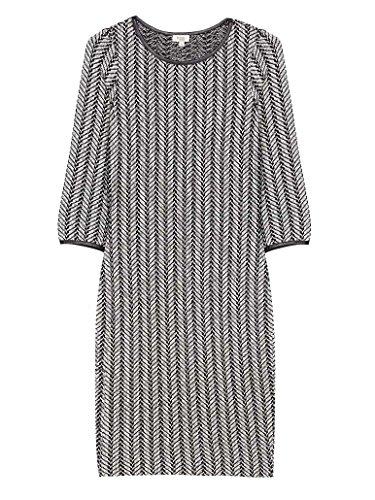 Hoss Intropia Damen Strickkleid mit Fischgrätmuster, Größe:M;Farbe:Combo