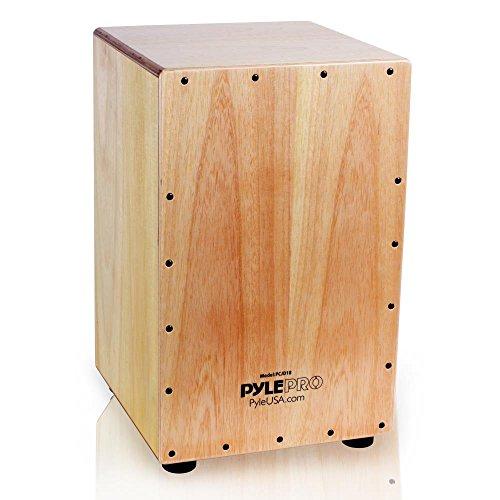 Pyle String Cajon–Holz Percussion Box, mit internen Gitarre Saiten, mittlere Größe (pcjd18)