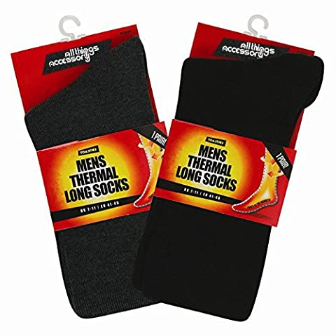 2 Pairs of Thermal Socks. Extra Warm, Heat Brushed Socks,