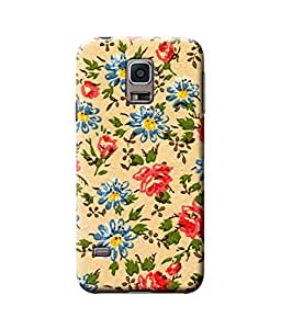 Be Awara Colorful Flowers Designer Mobile Phone Case Back Cover For Samsung Galaxy S5