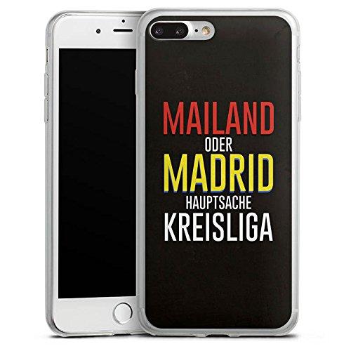 Apple iPhone 8 Slim Case Silikon Hülle Schutzhülle Kreisliga Fußball Sprüche Silikon Slim Case transparent