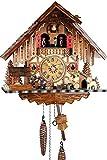 Nero foreste musicale orologio in Legno con battery operated al quarzo con cuculo e musica gioco opera - offerta di orologi-Park Eble - Engstler - casa 35 cm - 487 QMT HZE MG