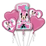 Amscan International 8.732.268,5cm Minnie Maus Folienballon 1. Geburtstag Bouquet