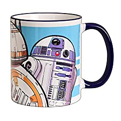 Elbenwald Star Wars Keramik-Tasse Droiden Trio D-0 BB-8 R2-D2 Rise of Skywalker 320ml