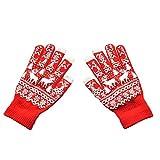 TEBAISE Mädchen Damen Herren Jungen Winter Voll Finger Handschuhe Winter Wärmer Strick Handschuhe Intelligente Touchscreen Handschuhe Weihnachten Karneval Fasching Fasnacht