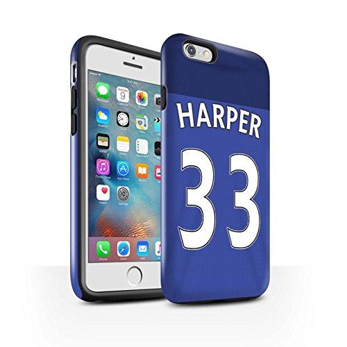 Offiziell Sunderland AFC Hülle / Glanz Harten Stoßfest Case für Apple iPhone 6+/Plus 5.5 / Pack 24pcs Muster / SAFC Trikot Home 15/16 Kollektion Harper