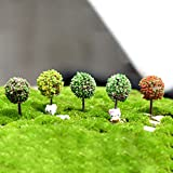 Mini Modell Bäume Bonsai Landschaft Fairy Puppenhaus Terrarium Garten Scenery Ornament Decor 5 x