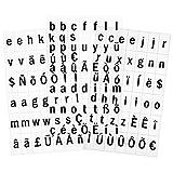 Juego de 126 letras de repuesto para letrero luminoso de cine LED A4