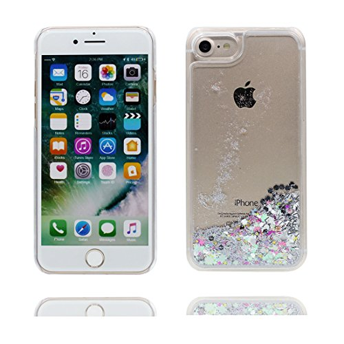 """iPhone 7 Coque, Bling Glitter Flowing Funny Silicone Ultra Slim ( blanc), Case iPhone 7 Étui 4.7"""", Shock Dust Resistant Shell iPhone 7 Cover 4.7"""" # 7"""