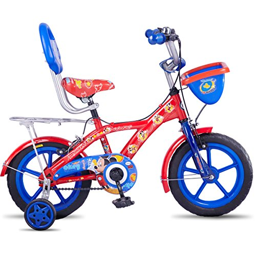 Hero Disney 14T Mickey Junior Cycle with Carrier 9-inches (Red)