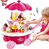 Halo Nation Ice Cream Kitchen Play Cart Kitchen Set Toy With Lights And Music