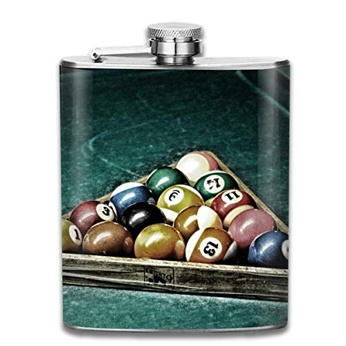 FGRYGF Pocket Container for Drinking Liquor, Billiards is Ready Hip Flask for Liquor Stainless Steel Bottle Alcohol 7oz