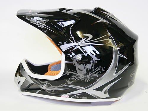 Helm Kinderhelm Motorradhelm Crosshelm Motocrosshelm Sport Schwarz M