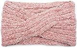styleBREAKER Damen Chenille Strick Stirnband mit Knoten, Haarband, Headband 04026031, Farbe:Rose