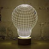 GARY&GHOST 3D LED Lampe, Birne-Form Lichteffekt, USB Leuchten, für Valentinstag Weihnachten Party Beleuchtung