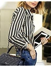 Amazon.es: camiseta rayas negras y blancas - ShifanEU / Camisetas y tops / Mujer: Ropa