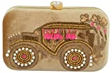 Tooba Women's Clutch (Golden, Golden Side Car Sequins 6X4_1)