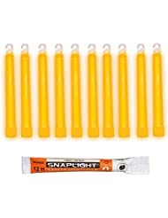 Cyalume J7-2DLN-PN3Z - Barras de luz naranja SnapLight Glow Sticks 15 cm, 6 Inch Lightstick super brillante con duración de 12 horas (Caja de 10)