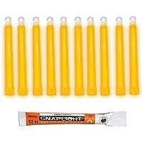 Cyalume Bâton lumineux orange SnapLight Glow Sticks 15cm, Light Sticks très lumineux  avec durée de 12 heures