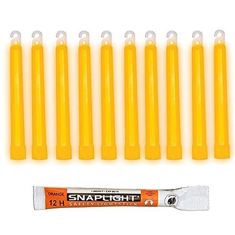 Cyalume SnapLight Orange Glow Sticks – 6 Inch Industrial Grade,